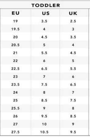 دليل قياسات الأطفال من 6ستريت